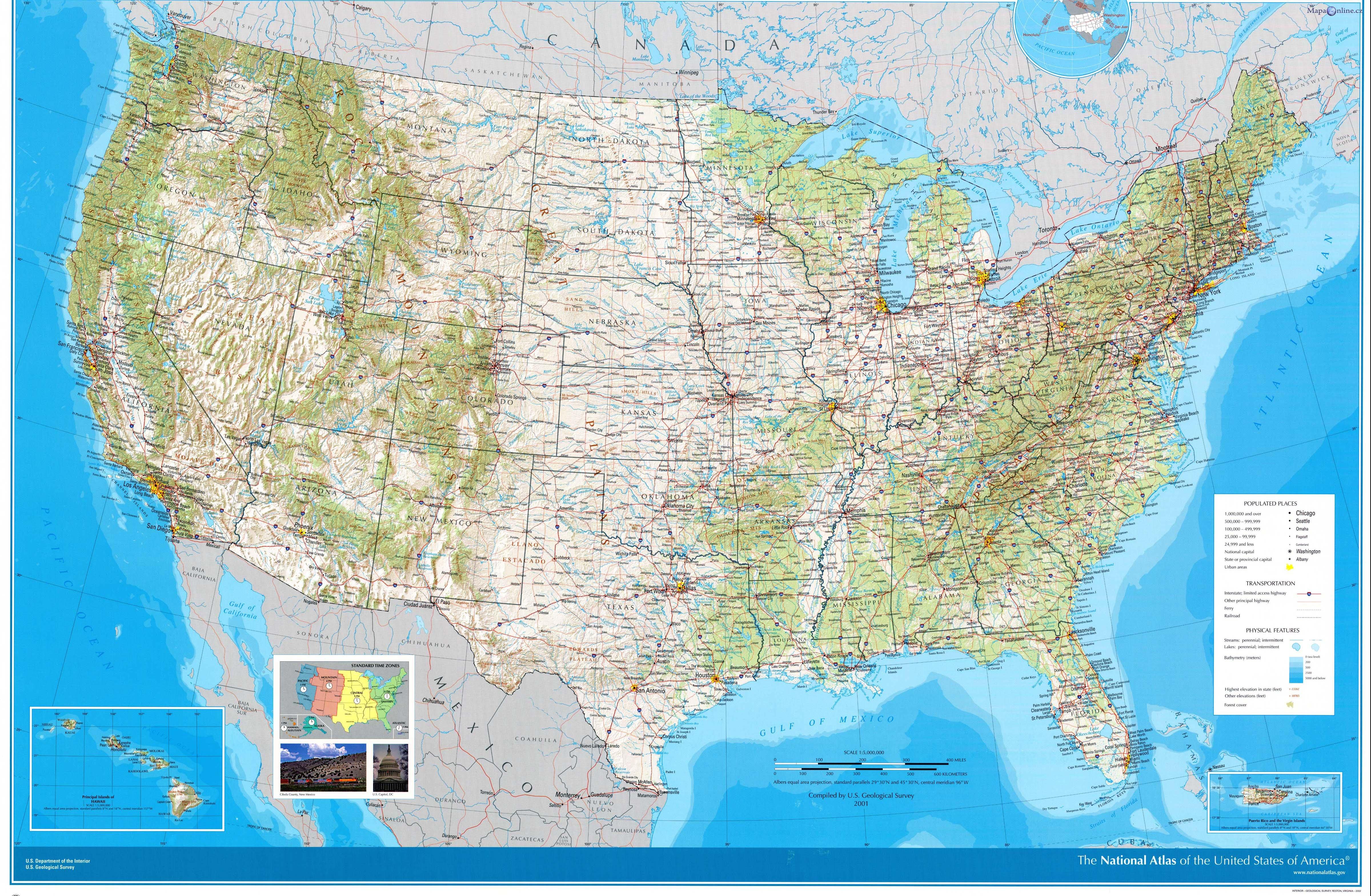 Mapa Usa Mapaonline Cz
